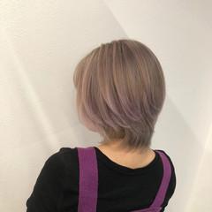 ナチュラルベージュ ストリート ショート 外国人風カラー ヘアスタイルや髪型の写真・画像
