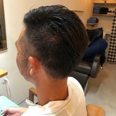 ショート モード オールバック メンズカット ヘアスタイルや髪型の写真・画像