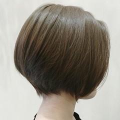 ナチュラル 暗髪 透明感 アッシュ ヘアスタイルや髪型の写真・画像