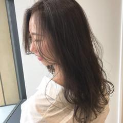 透明感カラー 巻き髪 エレガント 暗髪女子 ヘアスタイルや髪型の写真・画像