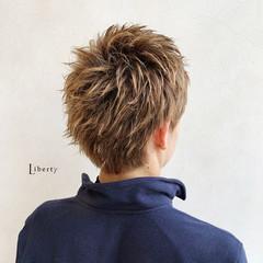 メッシュ メンズカット メンズショート メンズカラー ヘアスタイルや髪型の写真・画像