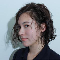 ボブ モード アッシュ 外国人風 ヘアスタイルや髪型の写真・画像