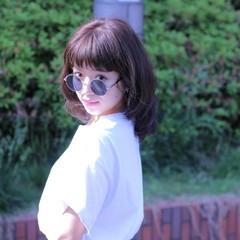 ストリート アッシュ ブルー ピュア ヘアスタイルや髪型の写真・画像