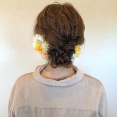 成人式ヘア シニヨン ナチュラル ふわふわヘアアレンジ ヘアスタイルや髪型の写真・画像