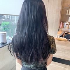 韓国ヘア ブルージュ ハイトーンカラー ロング ヘアスタイルや髪型の写真・画像