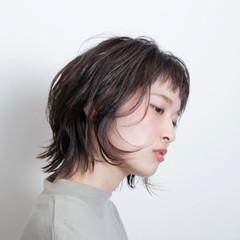 ナチュラル 暗髪 ショート 黒髪 ヘアスタイルや髪型の写真・画像