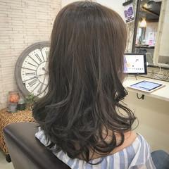 ブルージュ ナチュラル 暗髪 セミロング ヘアスタイルや髪型の写真・画像