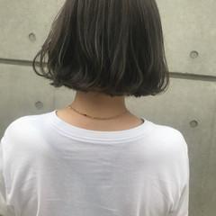 透明感カラー ナチュラル 透明感 ボブ ヘアスタイルや髪型の写真・画像