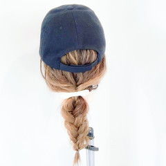 ポニーテール セミロング デート ストリート ヘアスタイルや髪型の写真・画像