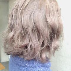 フェミニン 外国人風 ミディアム 大人かわいい ヘアスタイルや髪型の写真・画像