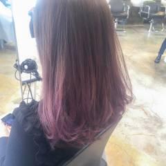 暗髪 ロング ストリート ロブ ヘアスタイルや髪型の写真・画像