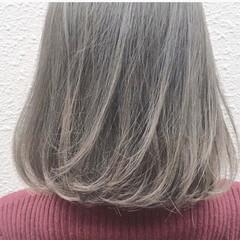 ハイトーン アッシュ 外国人風カラー ストリート ヘアスタイルや髪型の写真・画像
