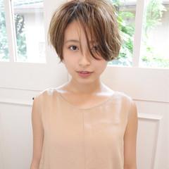 大人女子 ゆるふわ フェミニン ショートボブ ヘアスタイルや髪型の写真・画像
