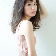 アウトドア スモーキーカラー ミディアム 夏 ヘアスタイルや髪型の写真・画像
