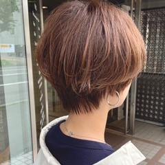小顔ショート ショートヘア ショート ナチュラル ヘアスタイルや髪型の写真・画像