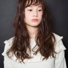 ロング 簡単 パーマ 大人かわいい ヘアスタイルや髪型の写真・画像