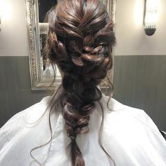 結婚式 ロング 謝恩会 デート ヘアスタイルや髪型の写真・画像