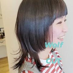 マッシュウルフ ウルフカット ストリート 小顔ヘア ヘアスタイルや髪型の写真・画像