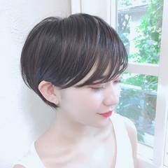 ショート ショートボブ 小顔ショート ショートカット ヘアスタイルや髪型の写真・画像