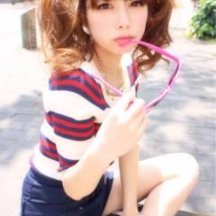 フェミニン モテ髪 ストリート セミロング ヘアスタイルや髪型の写真・画像