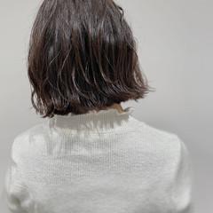ニュアンスヘア 外ハネボブ 切りっぱなしボブ ボブ ヘアスタイルや髪型の写真・画像