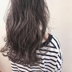 ブリーチ ハイライト 冬 セミロング ヘアスタイルや髪型の写真・画像