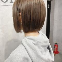 ボブ ショートヘア ミニボブ 切りっぱなしボブ ヘアスタイルや髪型の写真・画像