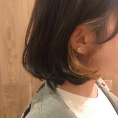 大人かわいい モード 大人女子 インナーカラー ヘアスタイルや髪型の写真・画像