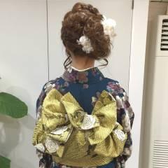 コンサバ 成人式 アップスタイル ヘアアレンジ ヘアスタイルや髪型の写真・画像
