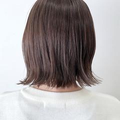 ナチュラル ミルクティーアッシュ ボブ ミルクティーベージュ ヘアスタイルや髪型の写真・画像