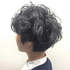 グラデーションカラー ハイライト グレー グレージュ ヘアスタイルや髪型の写真・画像