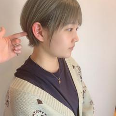 小顔ショート ベリーショート ショートボブ ショート ヘアスタイルや髪型の写真・画像