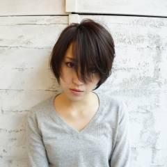 大人女子 ストリート 前髪なし ショート ヘアスタイルや髪型の写真・画像