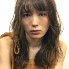 女子力 ナチュラル セミロング オフィス ヘアスタイルや髪型の写真・画像