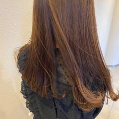 グレージュ フェミニン 大人かわいい セミロング ヘアスタイルや髪型の写真・画像