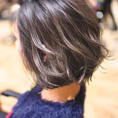 ボブ バレイヤージュ 外国人風カラー グラデーションカラー ヘアスタイルや髪型の写真・画像