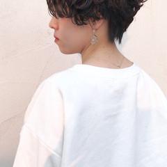 ショート 黒髪ショート ストリート ハンサムショート ヘアスタイルや髪型の写真・画像