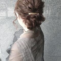 ヘアアレンジ ハーフアップ ナチュラル ゆるふわ ヘアスタイルや髪型の写真・画像