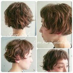 前髪あり 外国人風 パーマ ハイライト ヘアスタイルや髪型の写真・画像