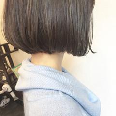 ボブ ハイライト ミルクティー 色気 ヘアスタイルや髪型の写真・画像
