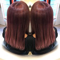 ガーリー アディクシーカラー イルミナカラー ロング ヘアスタイルや髪型の写真・画像