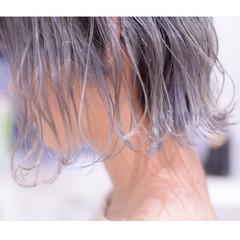 モード 切りっぱなしボブ ハイトーンボブ ボブ ヘアスタイルや髪型の写真・画像