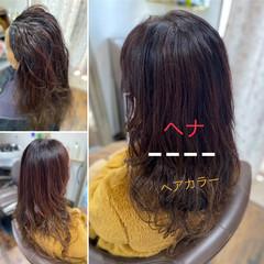 クールロング ロング ヘナカラー エレガント ヘアスタイルや髪型の写真・画像