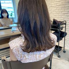 デジタルパーマ アンニュイほつれヘア 鎖骨ミディアム ミディアムレイヤー ヘアスタイルや髪型の写真・画像