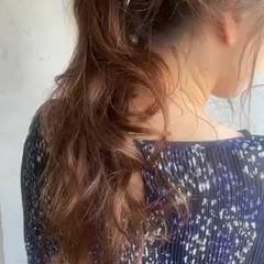簡単ヘアアレンジ ロング セルフヘアアレンジ ポニーアレンジ ヘアスタイルや髪型の写真・画像