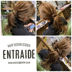 簡単ヘアアレンジ 結婚式 デート エレガント ヘアスタイルや髪型の写真・画像