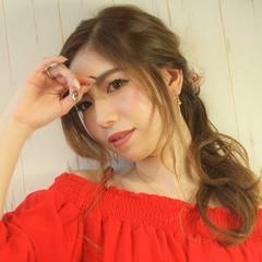 おフェロ ロング ヘアアレンジ 簡単ヘアアレンジ ヘアスタイルや髪型の写真・画像