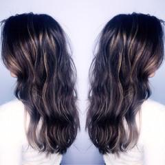 コンサバ ハイライト 渋谷系 アッシュ ヘアスタイルや髪型の写真・画像