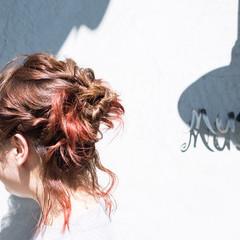 簡単ヘアアレンジ ミディアム ヘアアレンジ 前髪あり ヘアスタイルや髪型の写真・画像