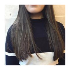 ハイライト 暗髪 ロング ストリート ヘアスタイルや髪型の写真・画像